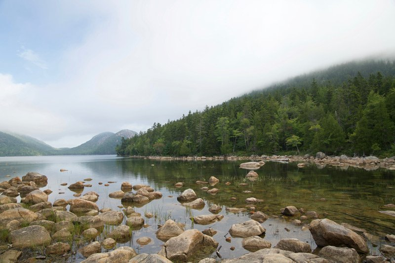Spouter Inn Maine water mountain fog