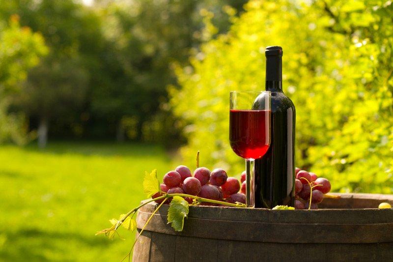 Spouter Inn Maine vineyard wine grapes on barrel