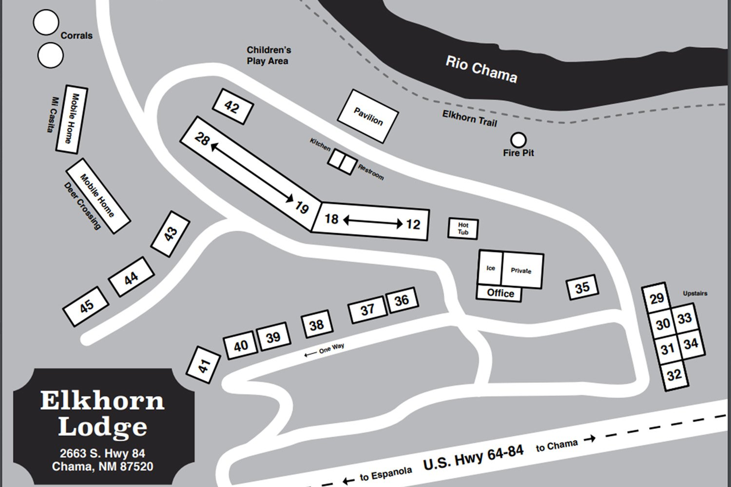 Elkhorn Lodge Property Map