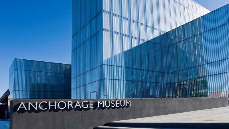 main entrance to the Anchorage Museum