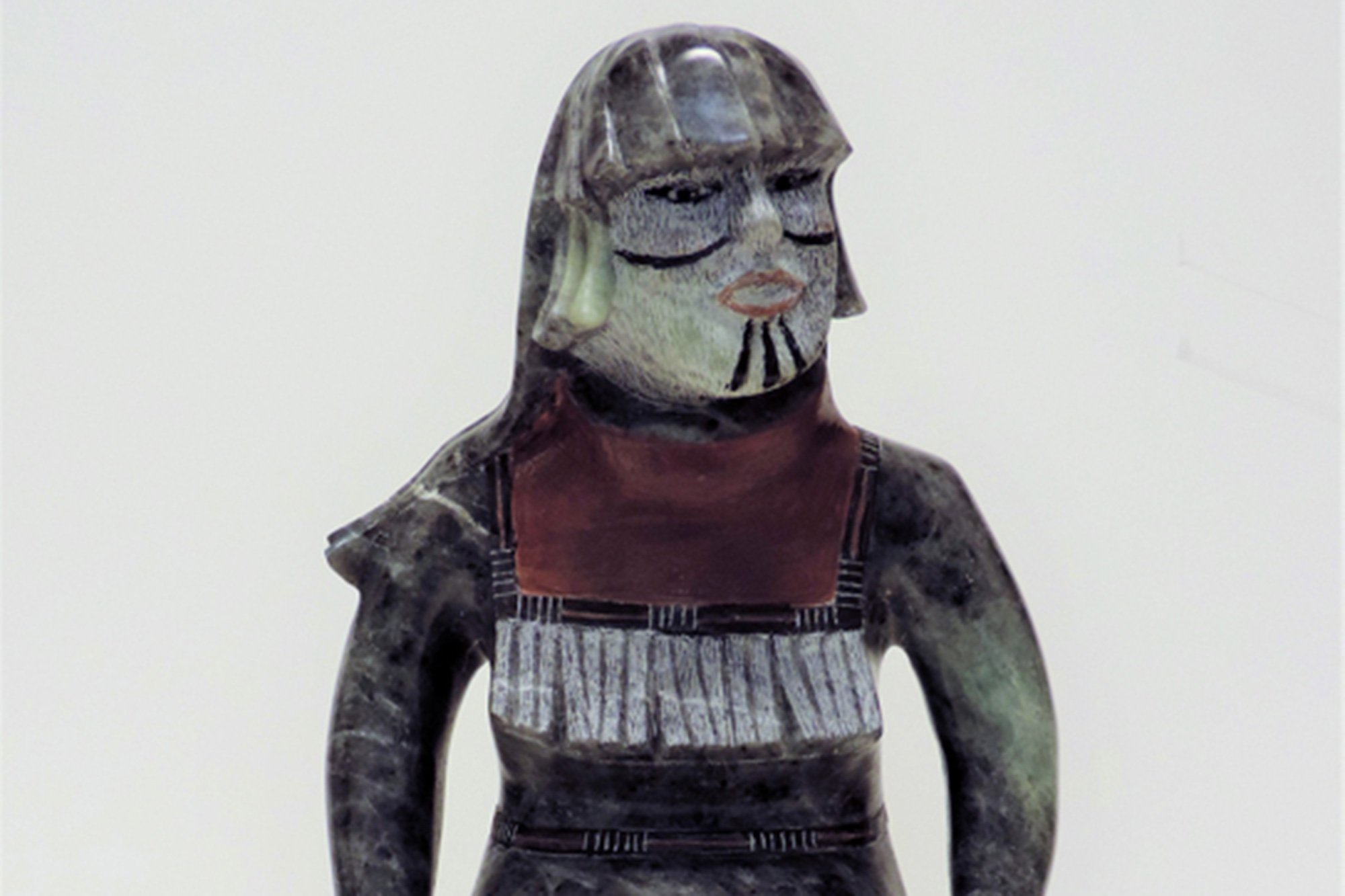 small statue of native figure