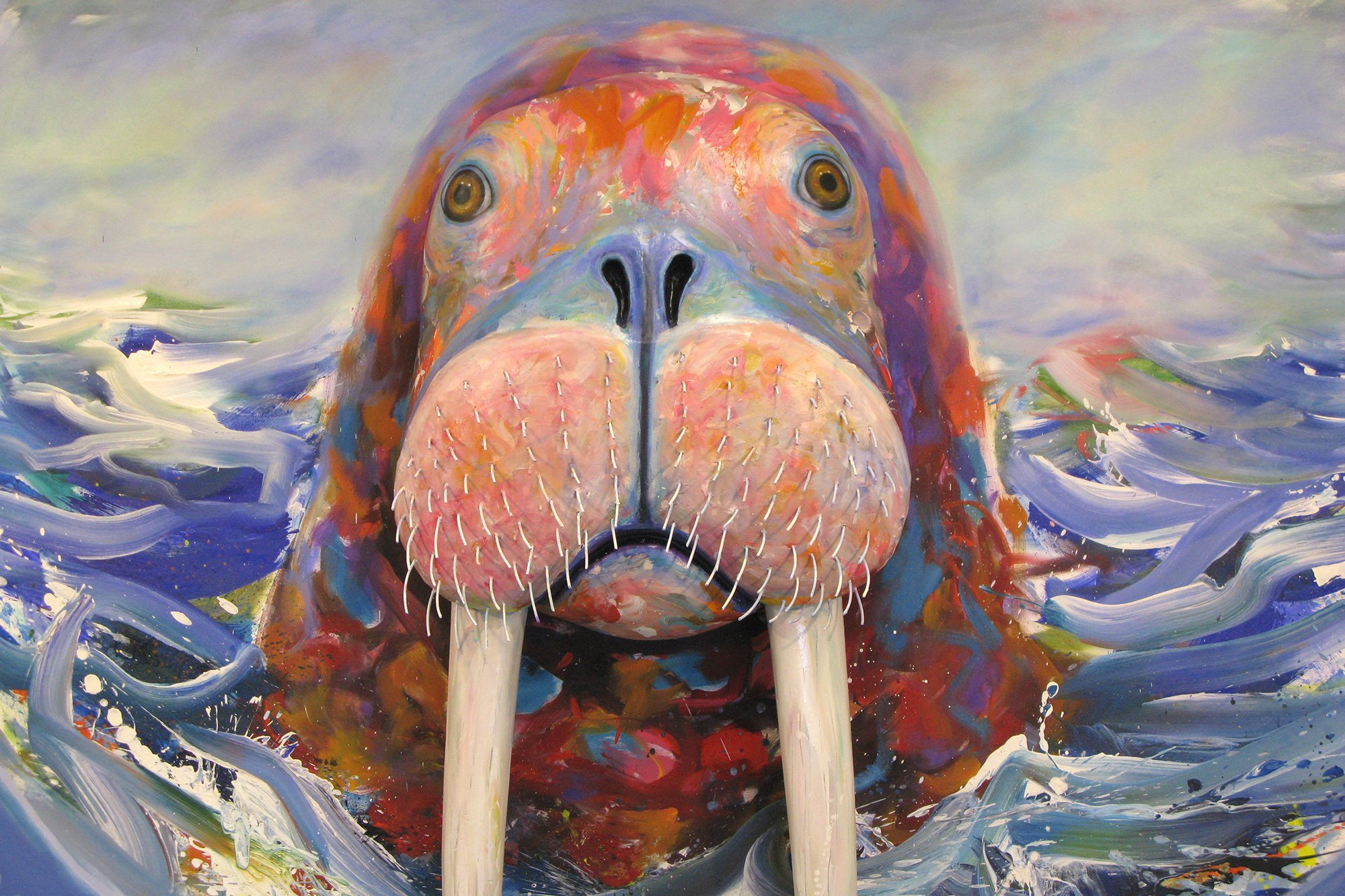 painting of walrus