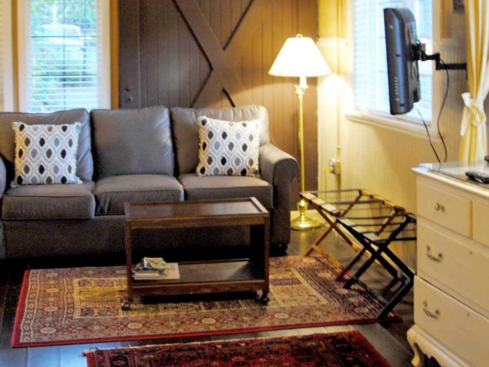 Family Room with Grey Sofa