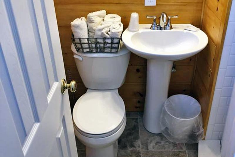 Toilet with Basket