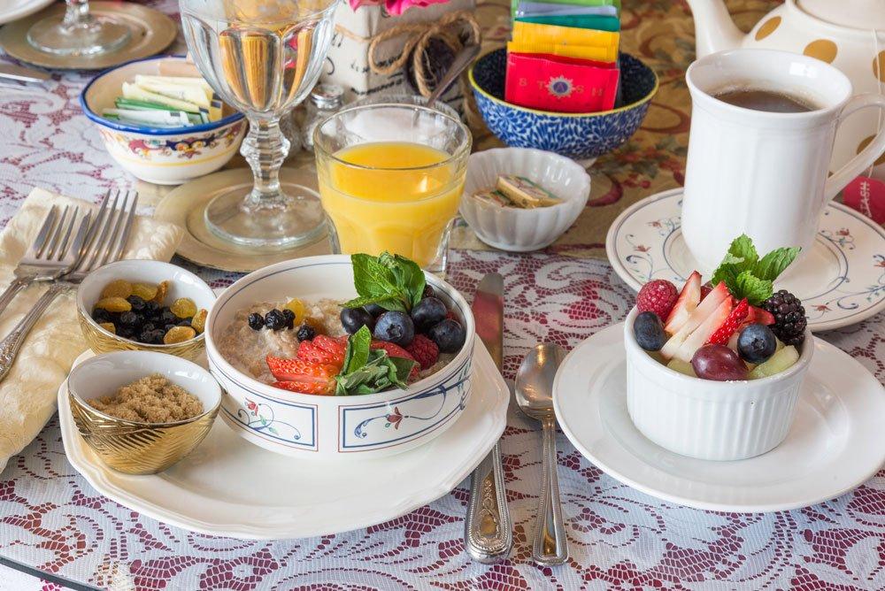 Breakfast Oatmeal table setting