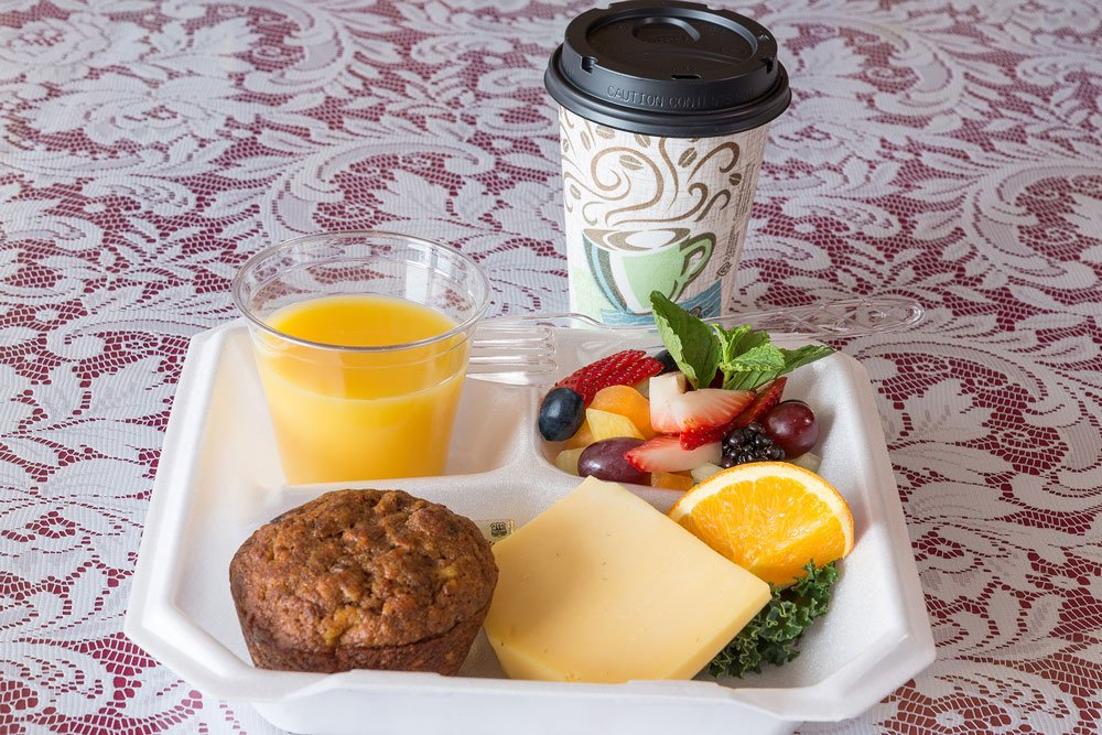 Orange Juice, Muffin and Coffee
