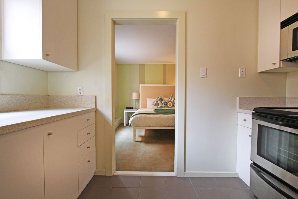 Kitchen and bedroom door
