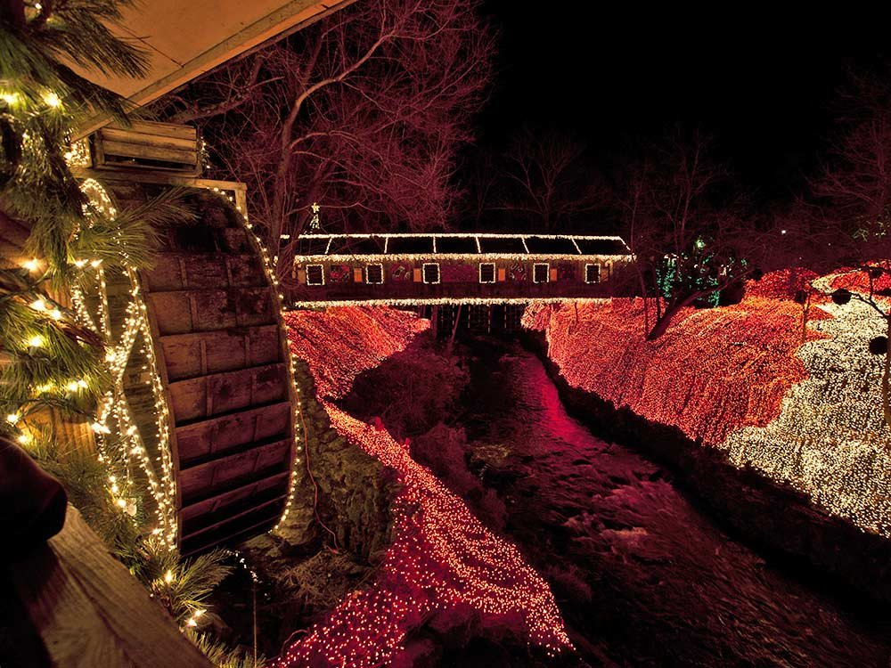 Clifton Mill Lights at Christmas