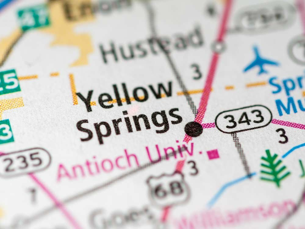 map of yellow springs