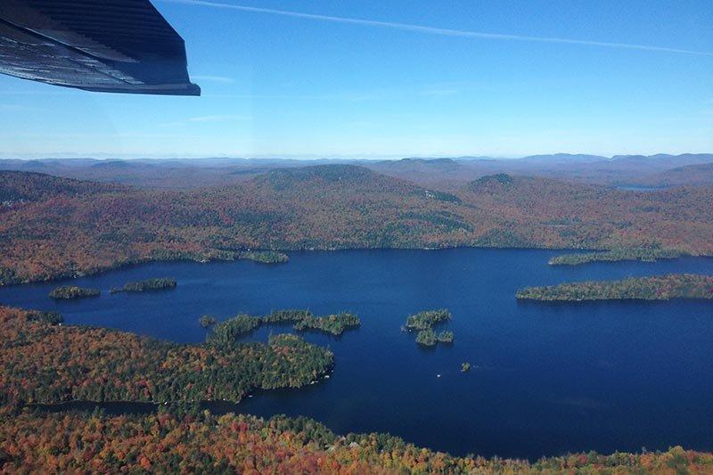 aerial view of Long Lake