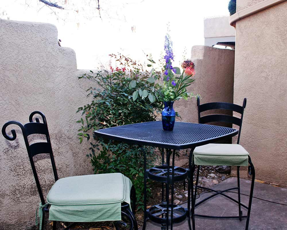 Patio Table with Flowers