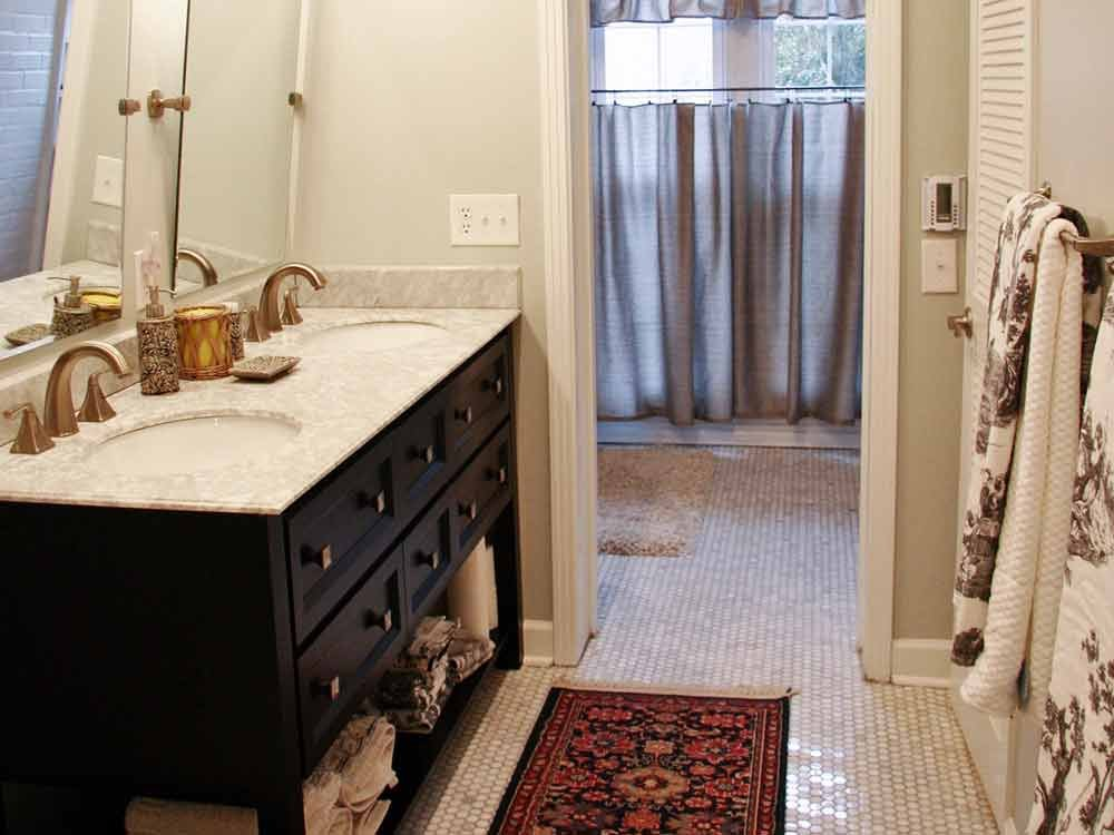 Bathroom Sink and Rug