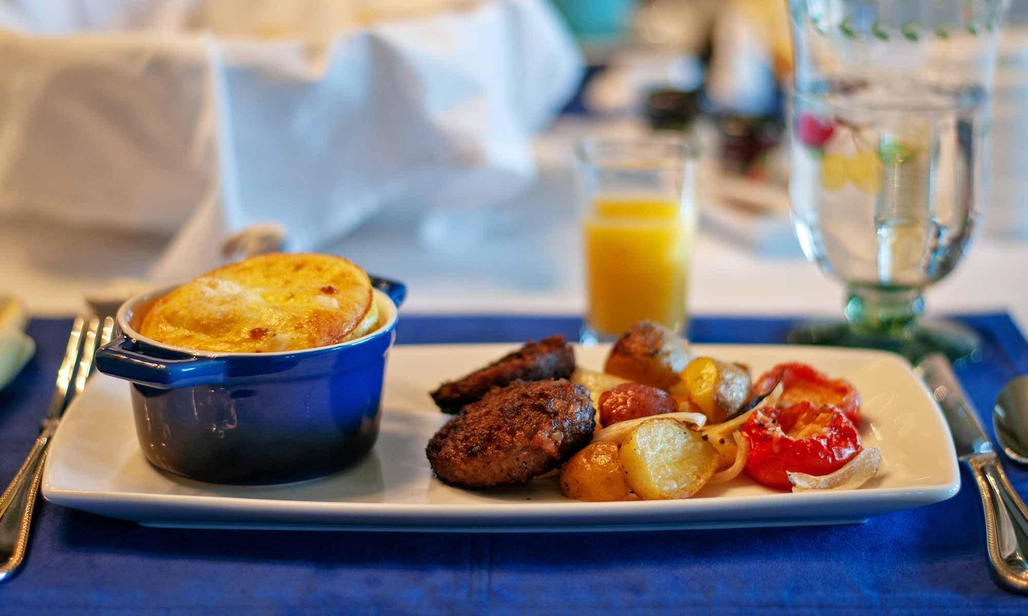 Breakfast Dish on Table