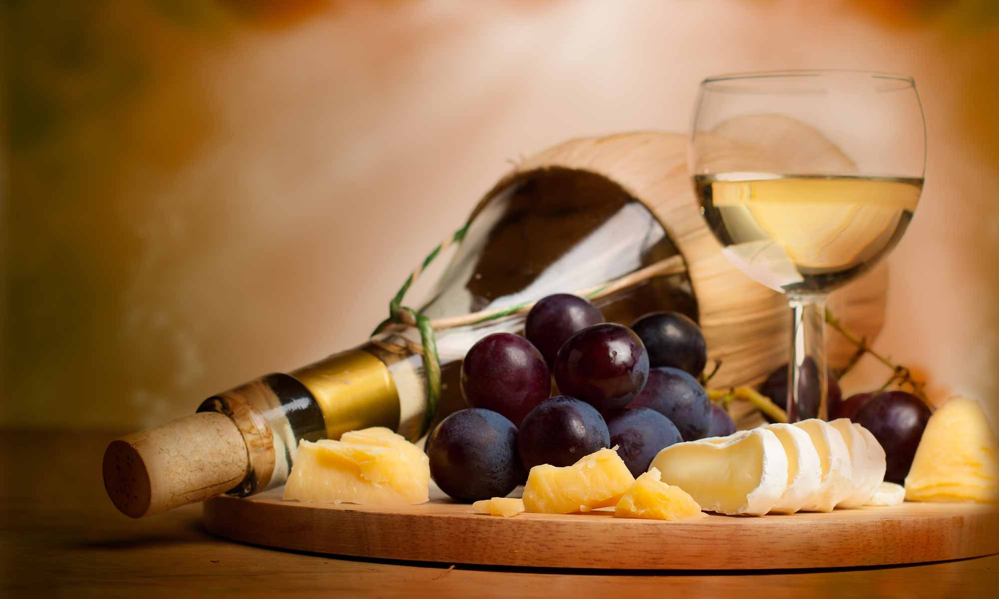 Wine, Grapes, and Cheese