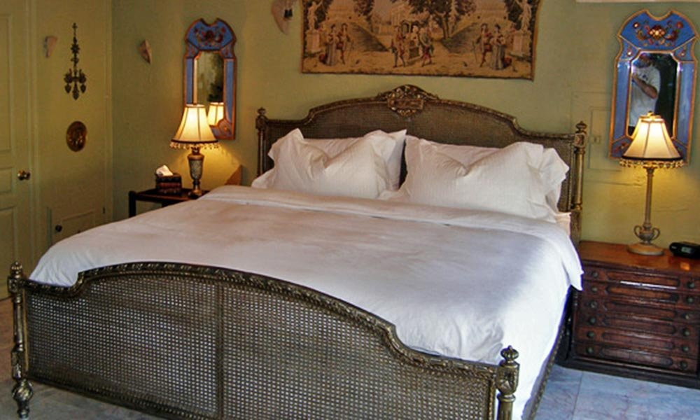 Bed with Nightstand