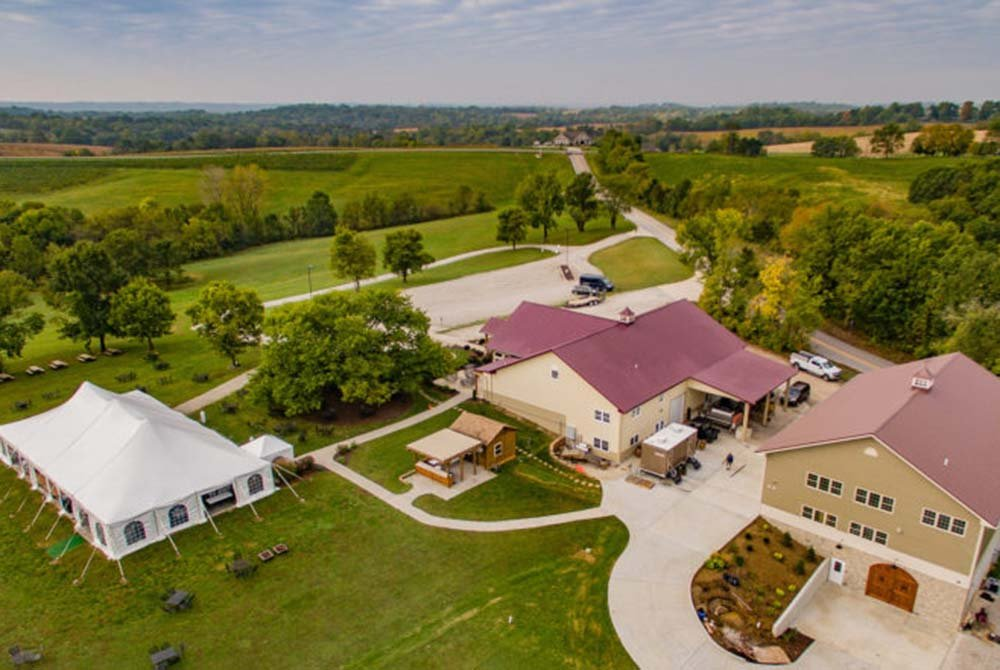 Drone Footage of Vineyard