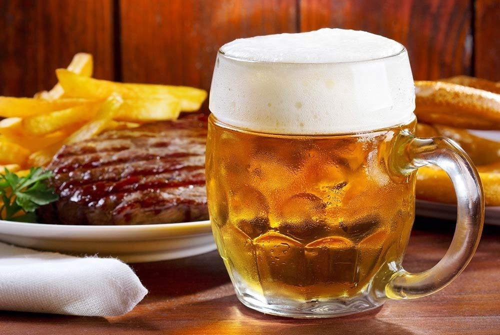 craft beer near steak dinner