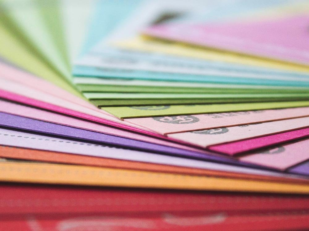 Color swatches fanned out
