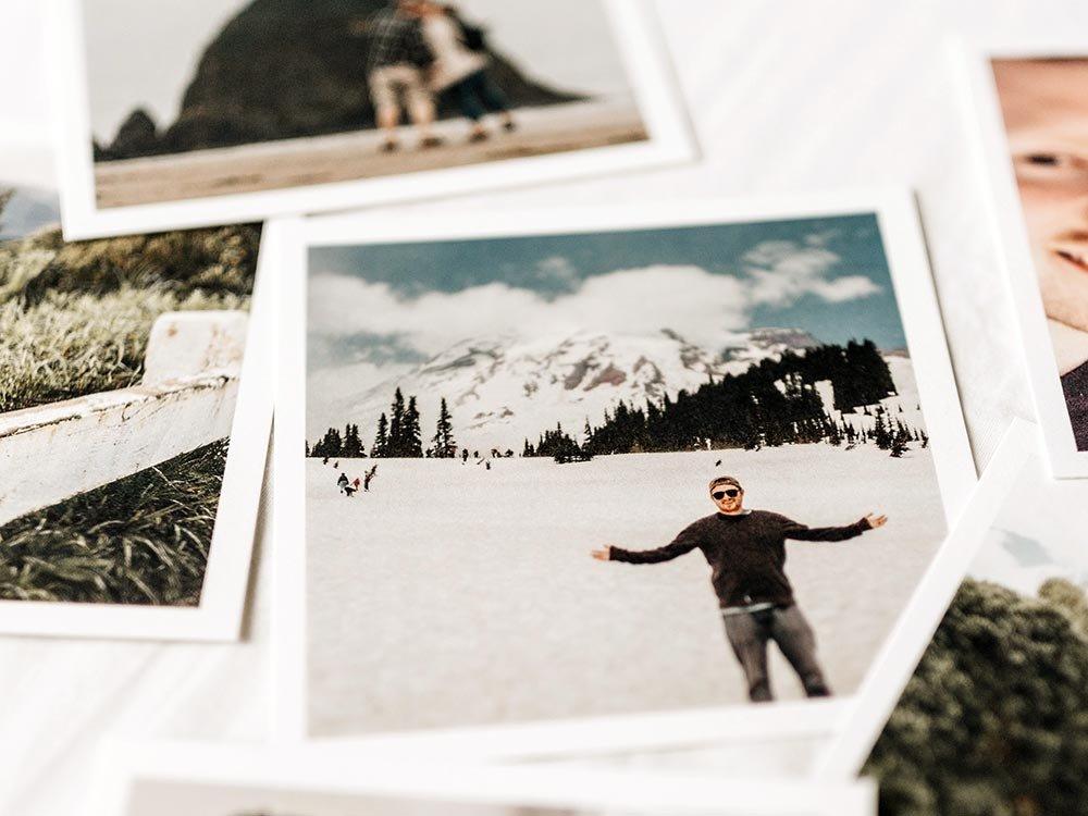 Photos of man on adventures